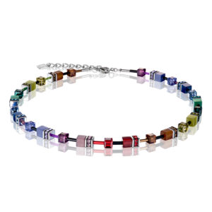 GeoCUBE® Rainbow Dark Collier