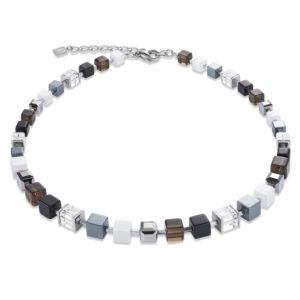 GeoCUBE® Swarovski® Kristalle Rauchquarz Hämatit Silber