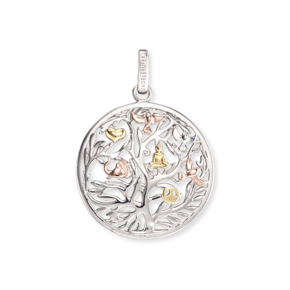 Anhänger Lebensbaum Silber Tricolor