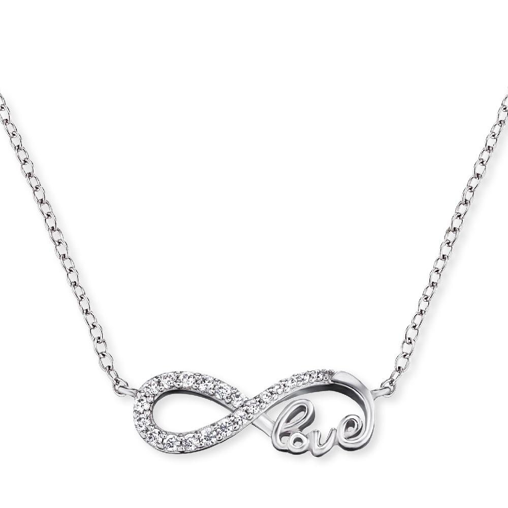 Kette Infinity Love Silber mit Zirkonia