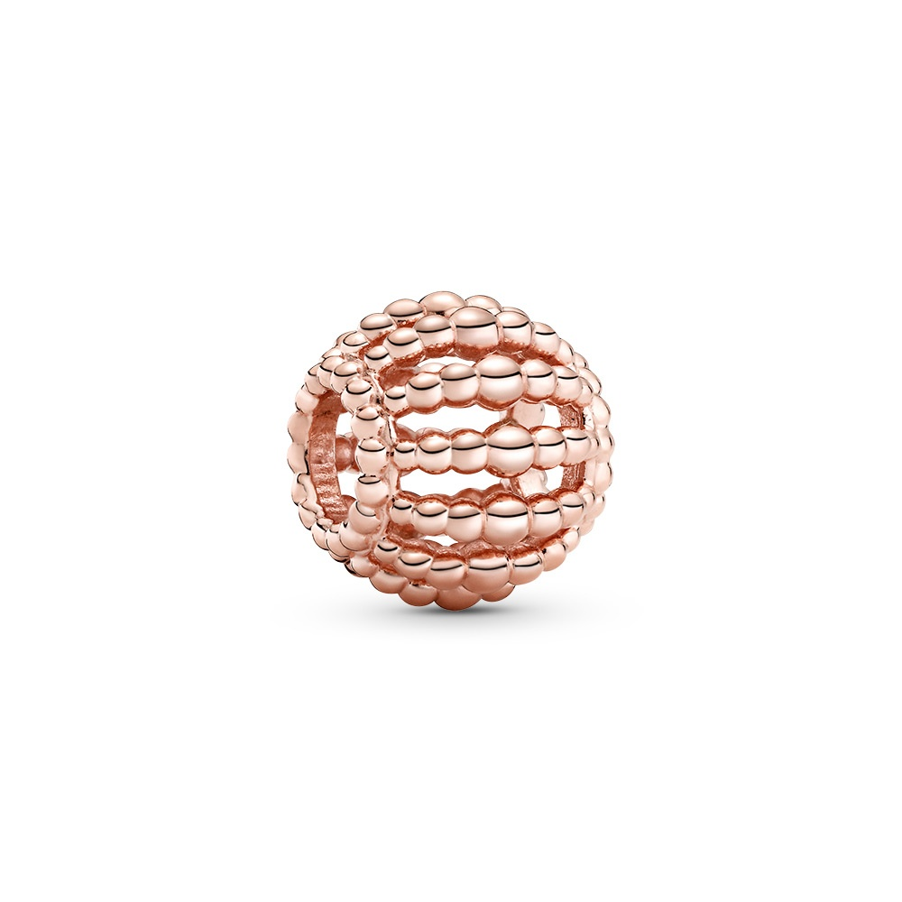 Offen gearbeitetes Metallperlen-Charm