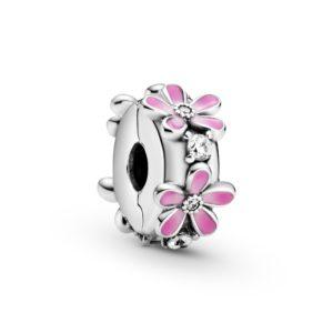 Rosafarbenes Gänseblümchen Clip-Charm