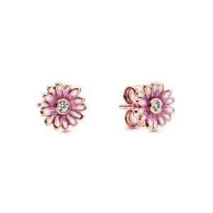 Rosafarbene Gänseblümchen Ohrringe