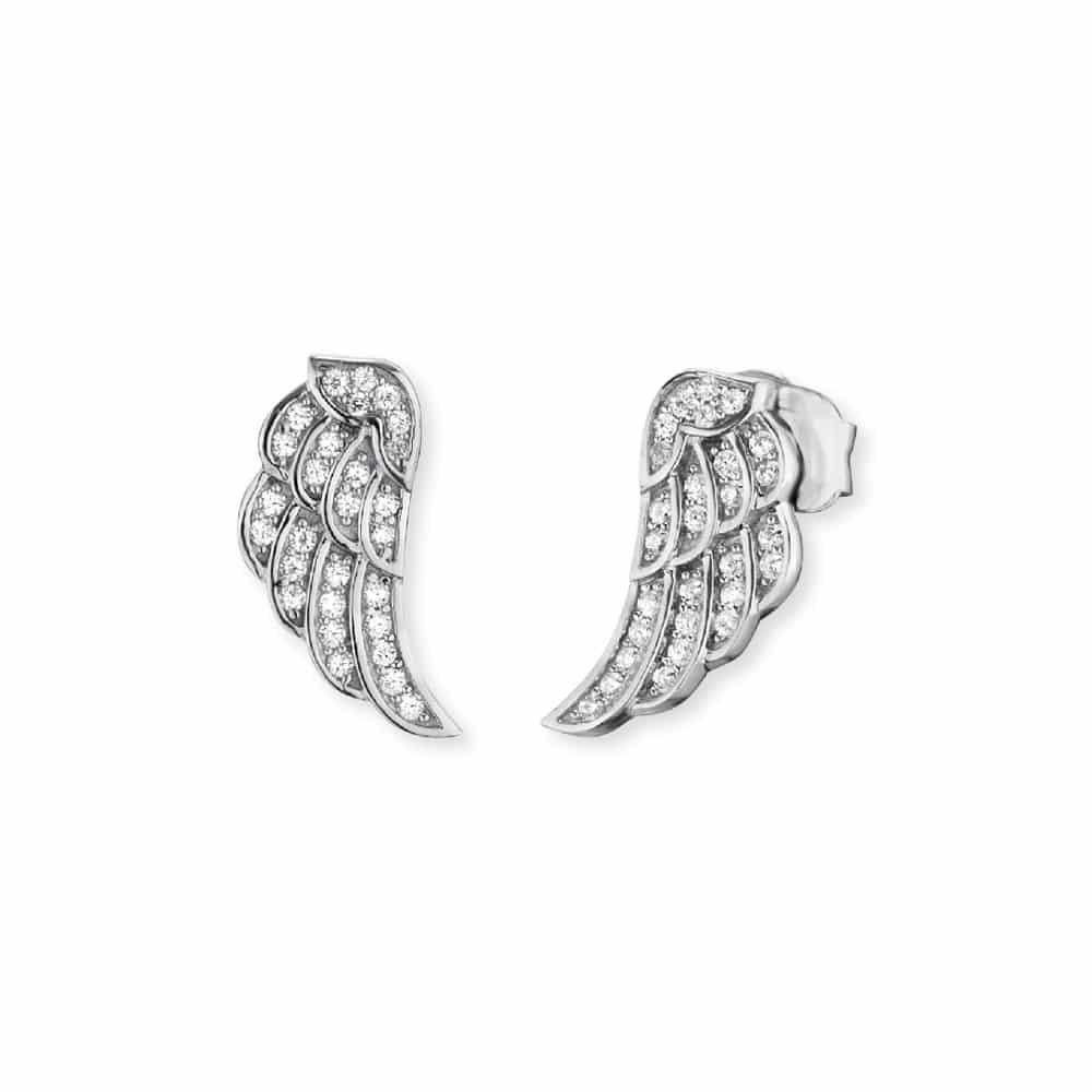 Glitzernde Ohrstecker Flügel